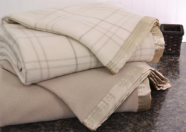 Creswick Luxurious All-Natural 100-Percent Australian Merino Wool Oversized Blanket,