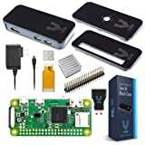 Raspberry Pi Zero W Basic Starter Kit- Black Case Edition-Includes Pi Zero W -Power Supply & Premium Black Case