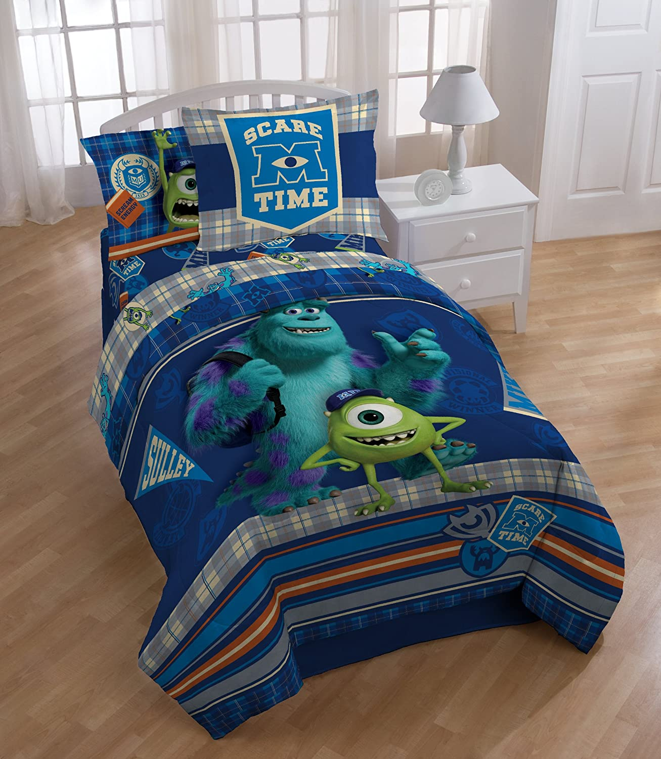 Monster University Scare-Care Comforter Set Twin & Monsters Inc Bedroom Decor Archives - Groovy Kids Gear
