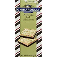 4-Pack Ghirardelli Peppermint Bark Dark Chocolate Bar (3.5 Oz)