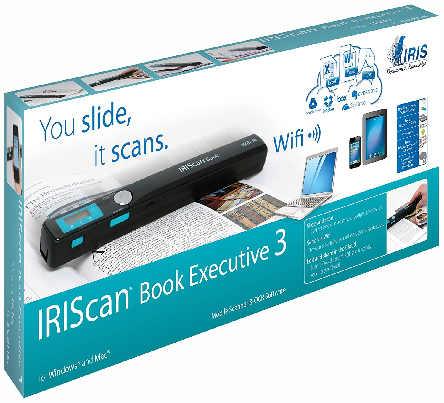 Scanner IRIS IRISCAN BOOK3 NOIR