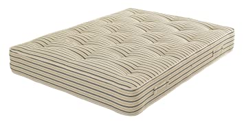 Comfy Beds Super King Hotel Classic Crib 5 Mattress, 6 ft, Cream Stripe