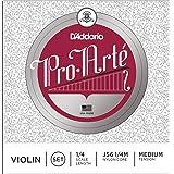 D'Addario Pro-Arte Violin String Set, 1/4 Scale, Medium Tension (Tamaño: 1/4 Scale)