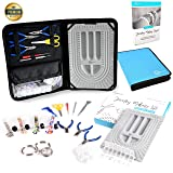 BeautyBeads Jewelry Making Kit for Adults with Beading Supplies. More than 200pcs Tools and Accessories Set. Make Custom Beading Designs. Bead Design Board, Jewellery Making Guide