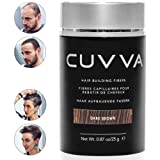 CUVVA Hair Fibers - Hair Loss Concealer for Thinning Hair - Keratin Hair Building Fiber for Men & Women - Regaine Confidence - 0.87oz - Dark Brown (Color: Dark Brown, Tamaño: 0.87oz/25g)