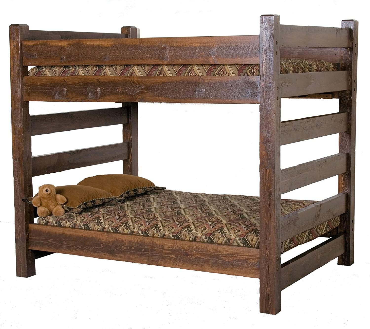 Barnwood Queen over Queen Bunk Bed CHECK PRICE