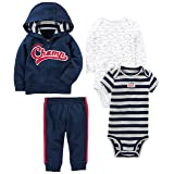 Simple Joys by Carter's Baby Boys' 4-Piece Little Jacket Set, Navy Champ, 0-3 Months (Color: Navy Champ, Tamaño: 0-3 Months)