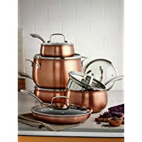 Belgique Copper Translucent 11-Piece Cookware Set (Copper)