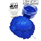 Stardust Micas Pigment Powder Cosmetic Grade Colorant for Makeup, Soap Making Dye, Epoxy, Resin, Nail, DIY Crafting Projects, Bright True Colors Stable Mica Batch Consistency Blue Ice (Color: Blue Ice, Tamaño: 36 Gram Jar)