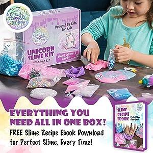 The Original Unicorn Slime Kit for Girls - Ultimate DIY