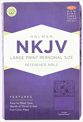 NKJV Large Print Personal Size Reference Bible, Purple LeatherTouch written by Holman Bible Staff