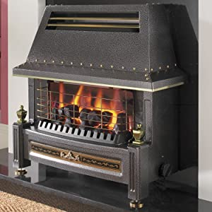 Flavel Natural Gas Fire   Regent Living Flame Effect   Outset Fireplace   Black   Manual       review and more news