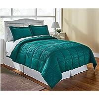 LivingQuarters Reversible Microfiber Down-Alternative Comforter (Twin/Twin XL Comforter)