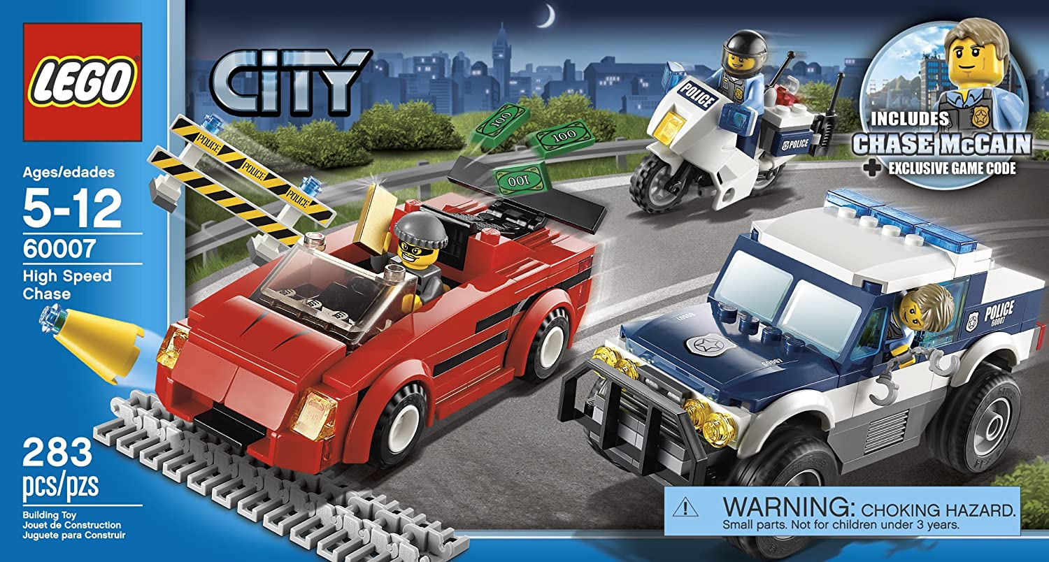 lego city police high speed chase 60007 new free. Black Bedroom Furniture Sets. Home Design Ideas