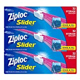 Ziploc Gallon Slider Storage Bags, 96 Count