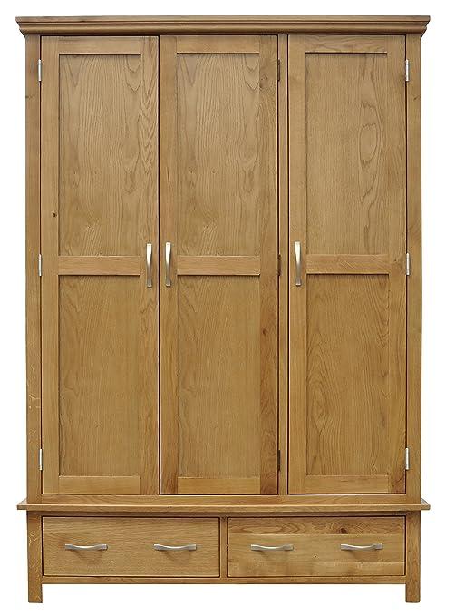 Sherwood Oak Triple Wardrobe