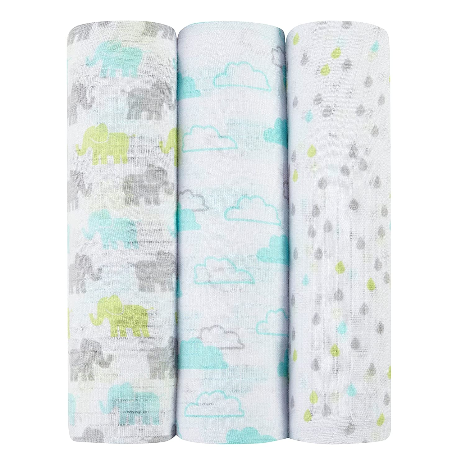 ideal baby by the makers of aden + anais 3 Piece Swaddle, Tall Tale