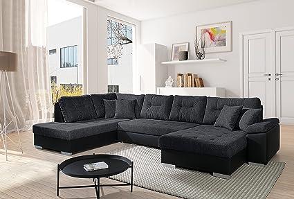 Sofa Couchgarnitur Couch Sofagarnitur SANTORINI 3 U Polstergarnitur Polsterecke Wohnlandschaft mit Schlaffunktion und Bettkasten Wohnzimmer Kinderzimmer Gästezimmer