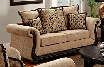 Chelsea Home Furniture Carol Loveseta, Delray Taupe