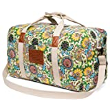 Malirona Canvas Weekender Bag Travel Duffel Bag for Weekend Overnight Trip (Color: Flowers, Tamaño: One_Size)