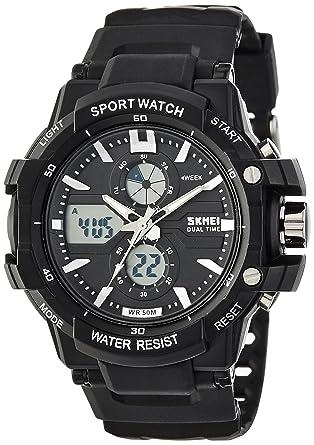 buy skmei analog digital black dial men s watch 990blk online at skmei analog digital black dial men s watch 990blk