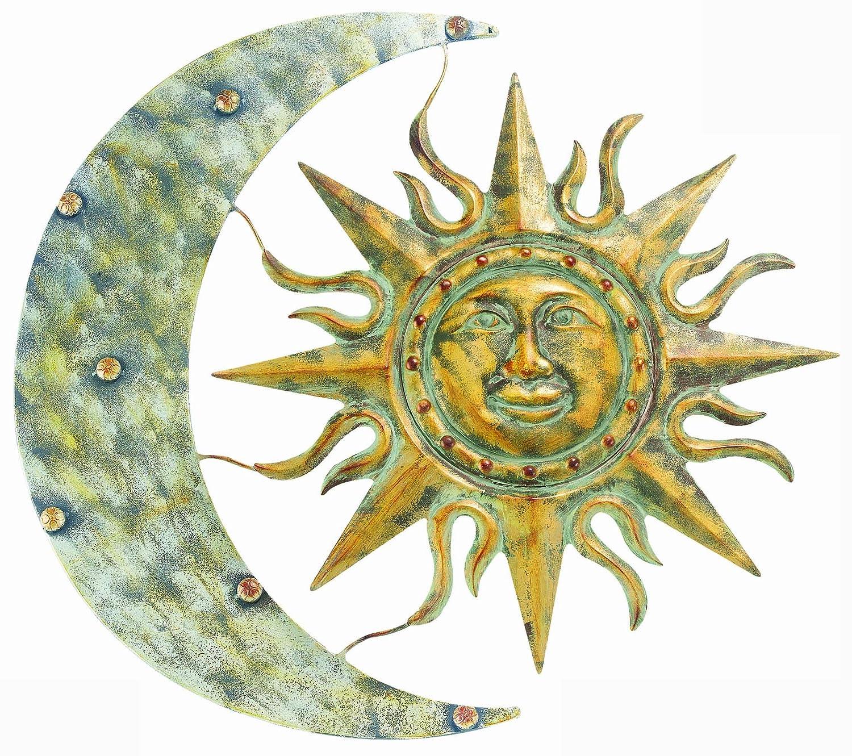 Sun And Moon Wall Art. talavera painted metal sun and moon wall art ...