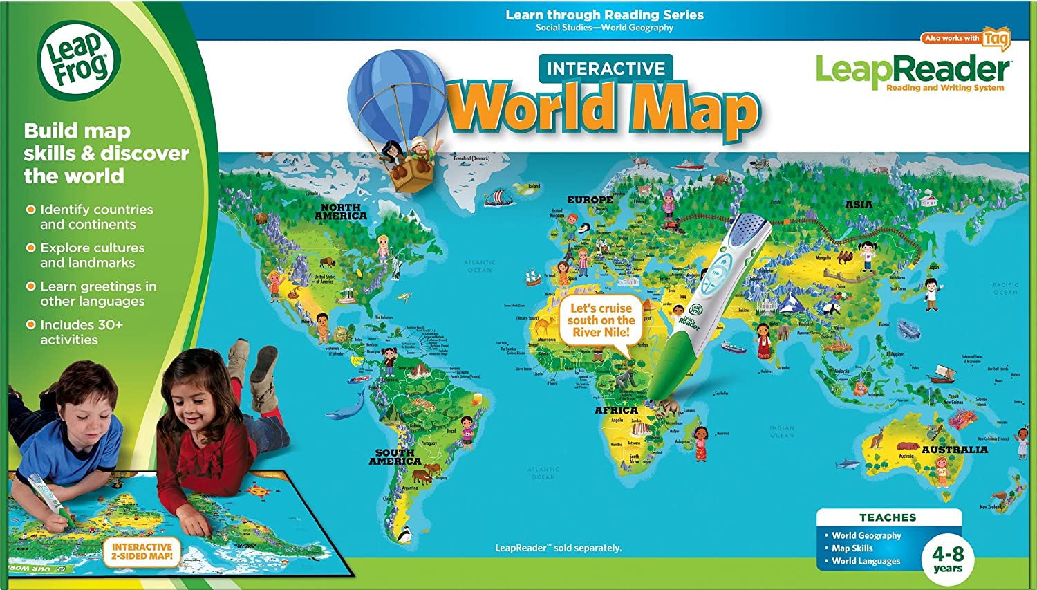 Barefoot world atlas a beautifully interactive globe interactive leapfrog leapreader interactive world map works with tag gumiabroncs Choice Image