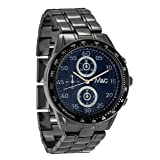 Men's Watches by Ferretti - Gunmetal Chronograph Bracelet Watch - Make Every Second Count - FT14803 (Color: Black, Tamaño: Medium)
