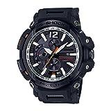 Casio Men's ' G Shock Tough Solar Quartz Resin Aviator Watch, Color:Black (Model: GPW-2000-1ACR (Color: Black/Black)