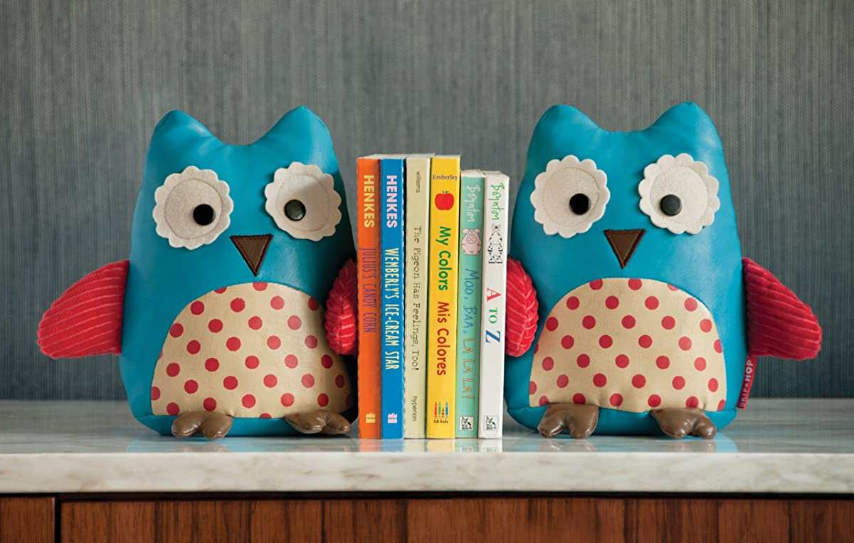 Skip Hop Set of 2 Zoo Bookends, Owl
