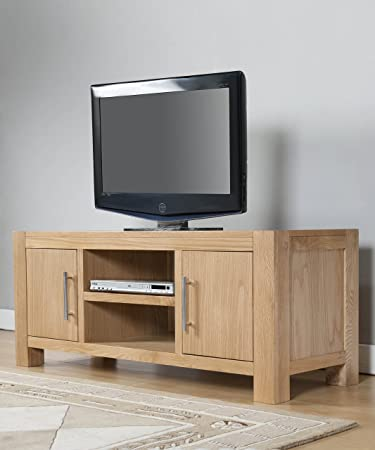 Solid Oak Lucerne TV Chest with 2 Drawers and 2 Doors