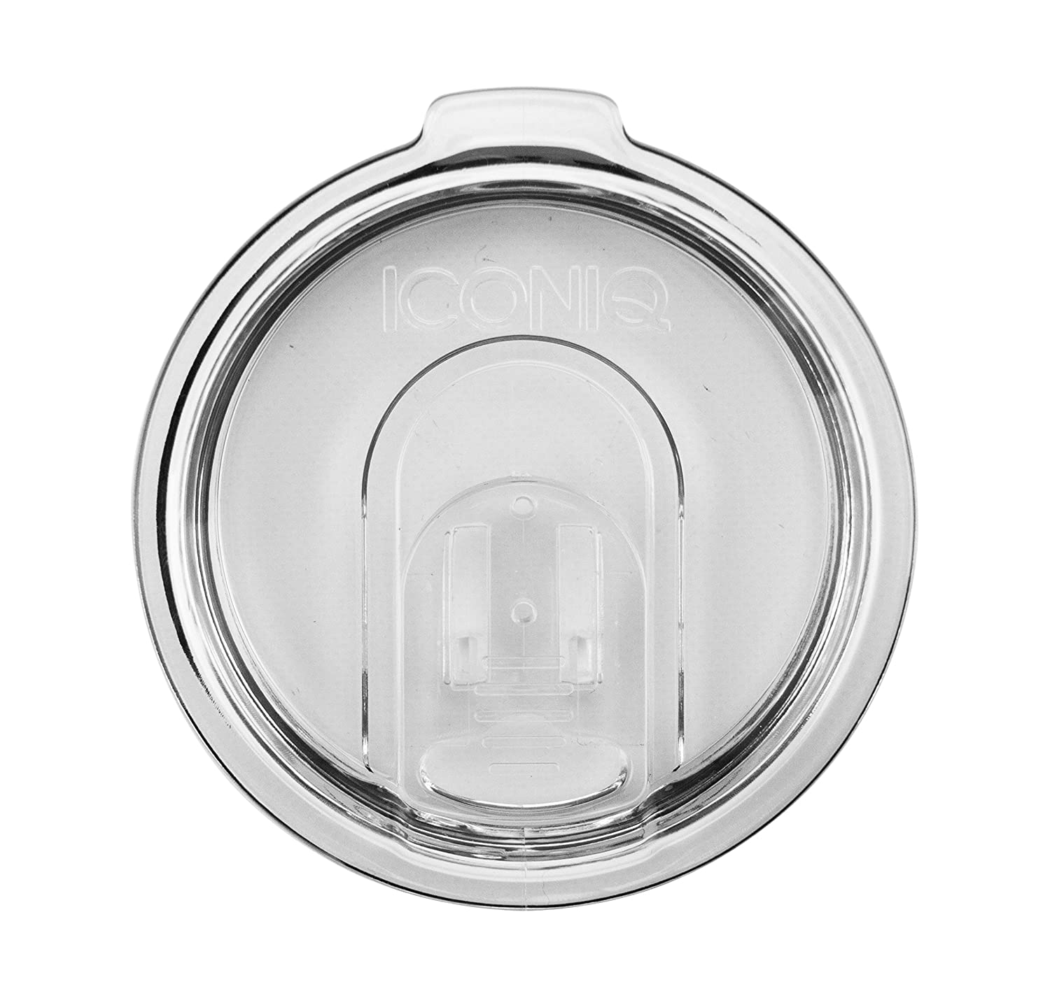 Replacement Lid with Retractable Sip Hole Cover for 20 Ounce Tumblers | Yeti Rambler Compatible (Clear)