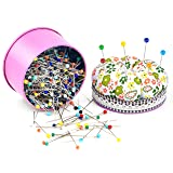 Zealor 500 Pieces Sewing Pins 38mm Glass Ball Head Pins for Dressmaking Jewelry Components Flower Decoration (500 Pcs) (Tamaño: 500 Pcs)