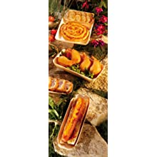 PacknWood 210BBT70 Canada Molded Wooden Tray with Paper Liner, 9-Inch Long x 5.1-Inch Wide x 1.3-Inch High Exterior (Case of 300)