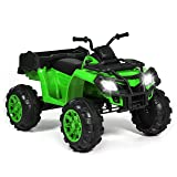 Best Choice Products 12V Kids Powered Large ATV Quad 4-Wheeler Ride-On Car w/ 2 Speeds, Spring Suspension, MP3, Lights, Storage - Green (Color: Green)