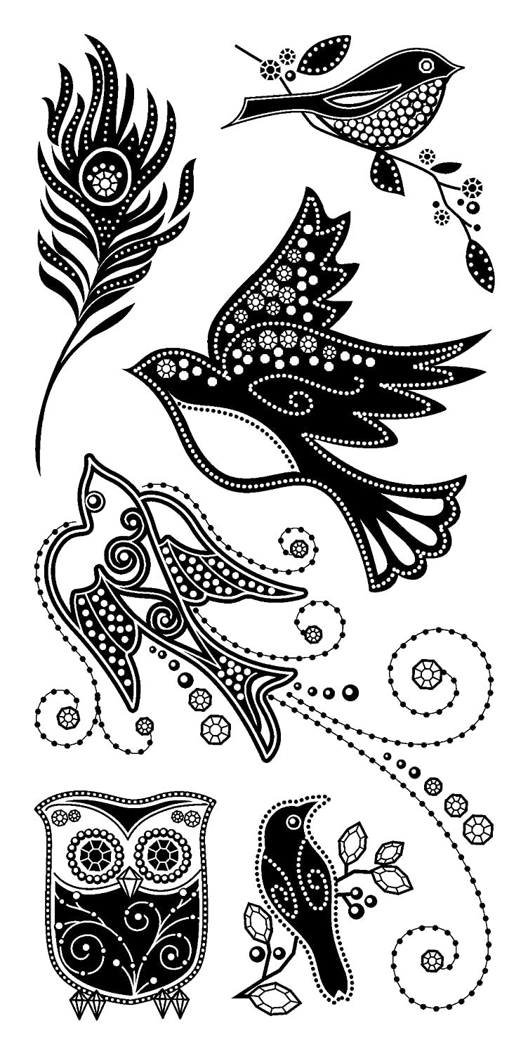 Inkadinkado Gem Stone Birds Clear Stamps 1 sheet happy birthday silicone clear stamps for party decoration rubber stamps for crafts and scrapbooking free shipping 68508