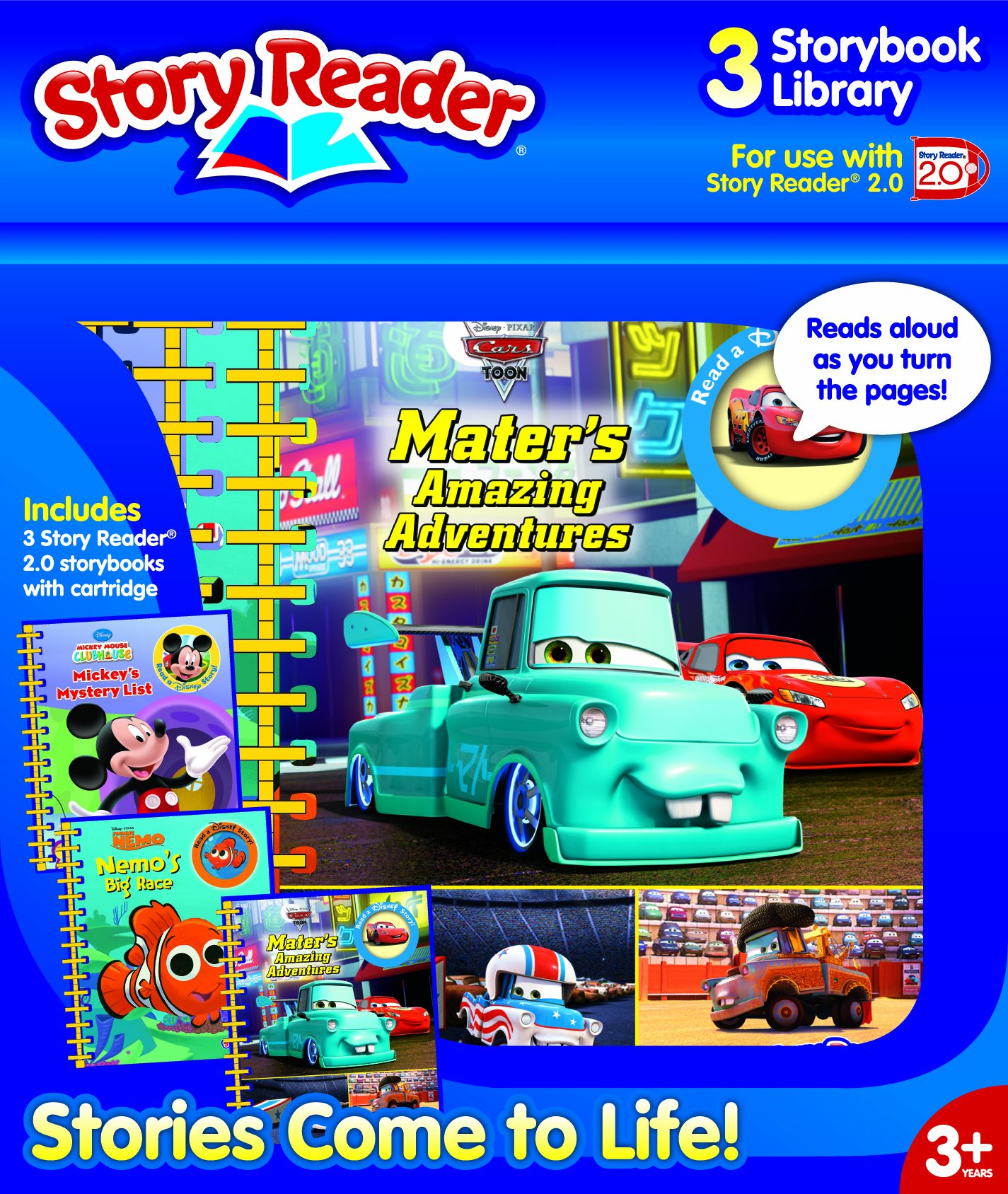 3 Story Library Story Reader 2.0 3-book Disney