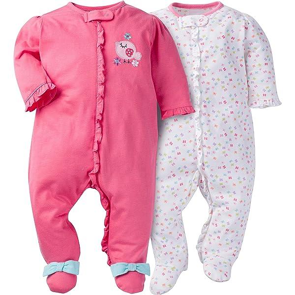 3-6 Months Safari Gerber Baby Boys 2 Pack Zip Front Sleep n Play