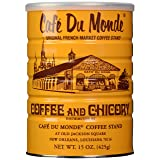 Cafe Du Monde, Dark Roast Coffee With Chicory, 15 Ounce Ground (Pack of 2) (Tamaño: 15 Ounce (Pack of 2))