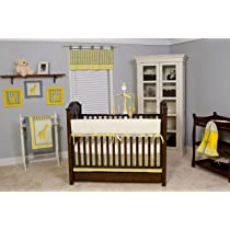 Pam Grace Creations Argyle Yellow 10 Piece Crib Bedding Set
