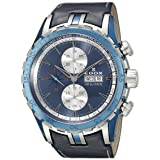 Edox Men's 01121 357B BUIN Grand Ocean Analog Display Swiss Automatic Blue Watch