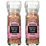 Himalayan Pink Salt Crystals with Built in Grinder 2 Pack