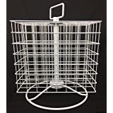 Craft Storage Collection; Craft Paint Revolving Storage Rack (Color: White, Tamaño: 16.2hX13wX8.5d)