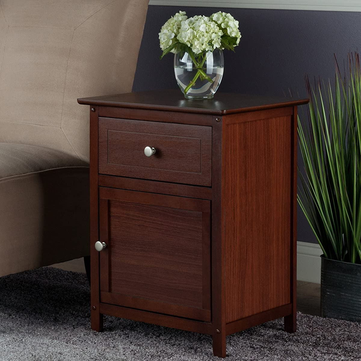 Winsome wood night stand accent table with drawer and