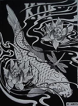 japanische tattoo vorlagen book buch koi 210mm x 285mm din a4 neu. Black Bedroom Furniture Sets. Home Design Ideas