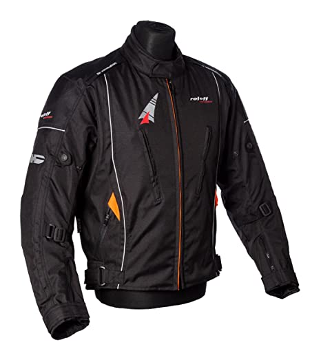 Roleff Racewear 150512 Veste Moto Como, Noir, Taille S