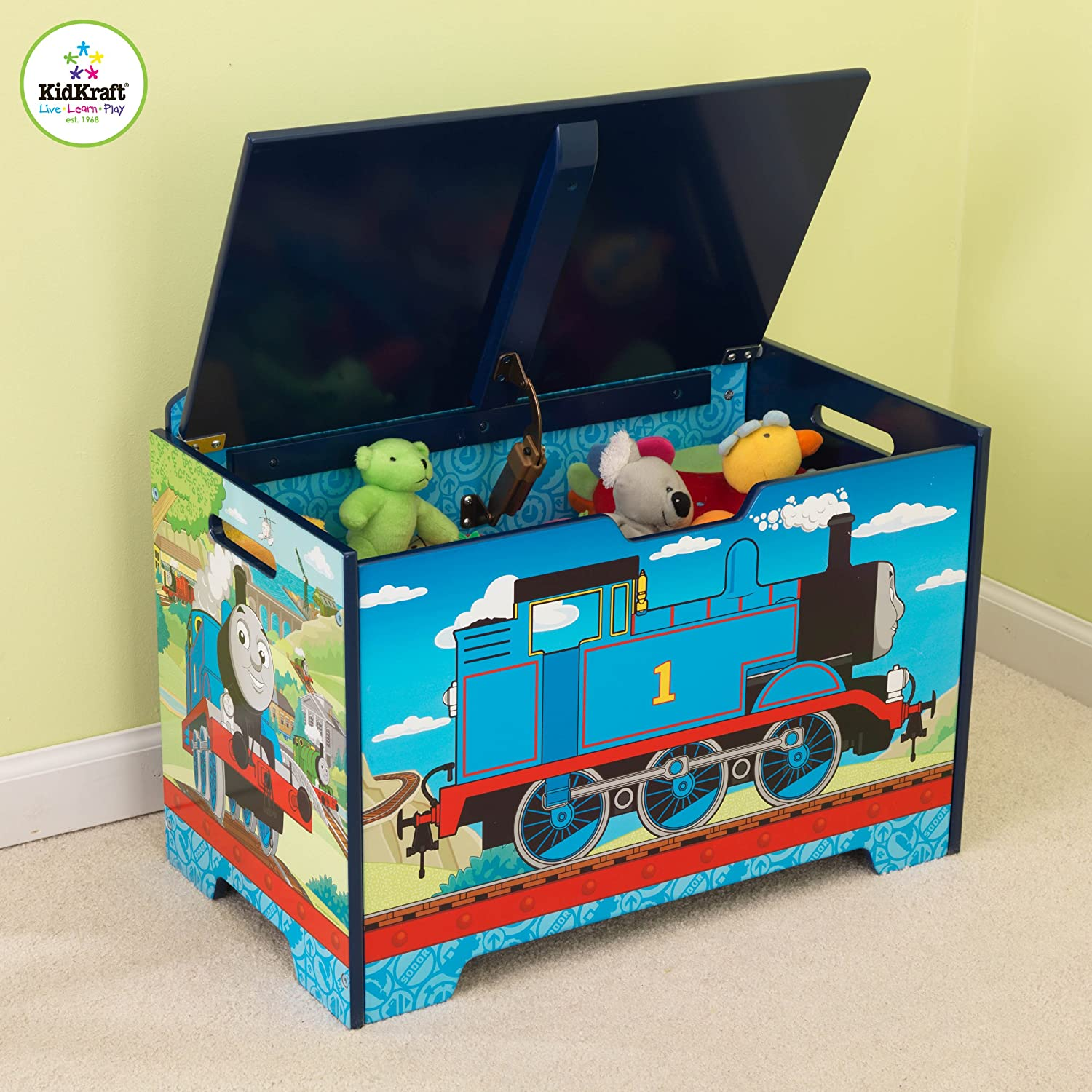 KidKraft Thomas And Friends Toy Box | Kids Wooden Toy Boxes