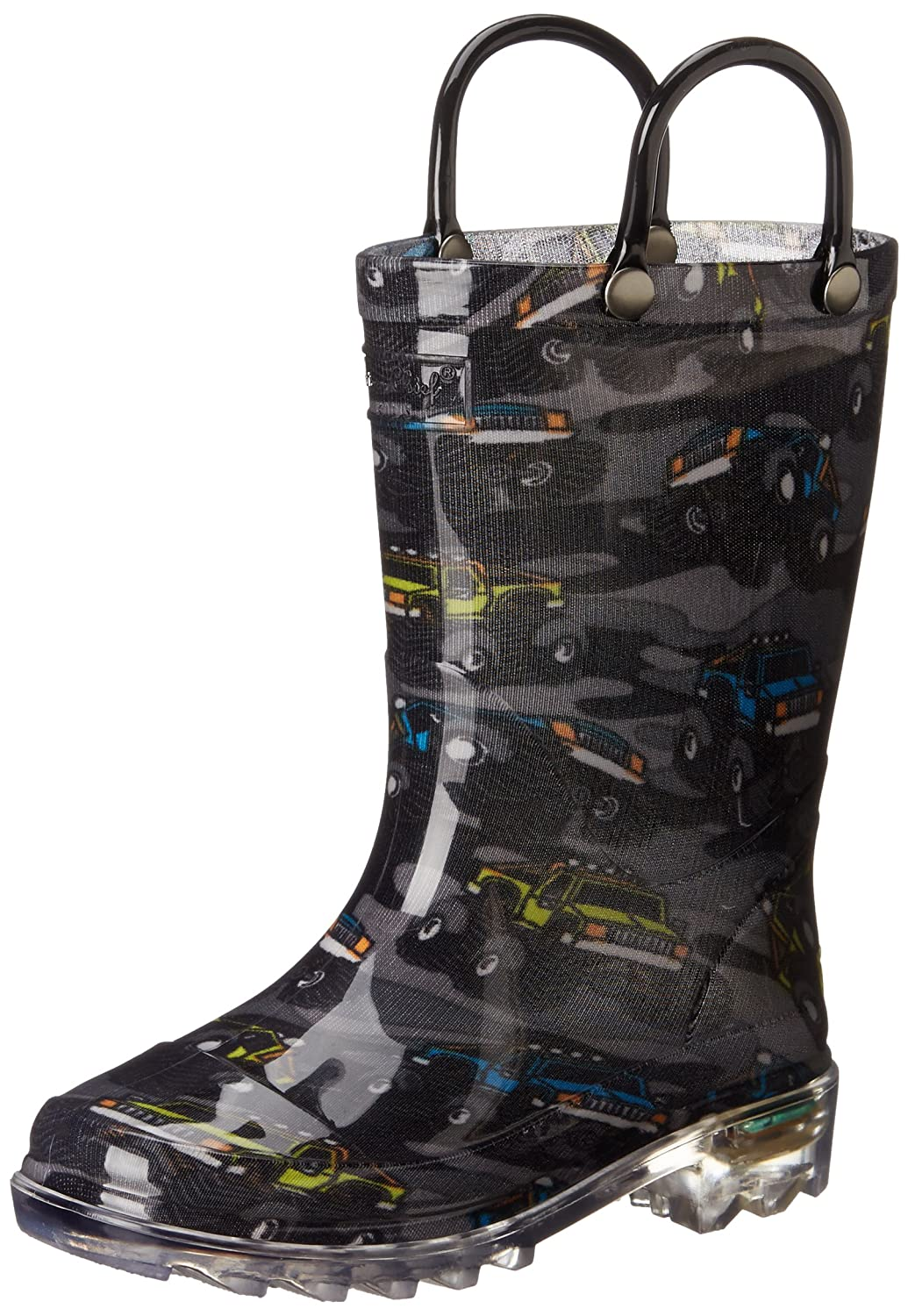 Western Chief Monster Crusher Rain Boot (Toddler/Little Kid), Charcoal