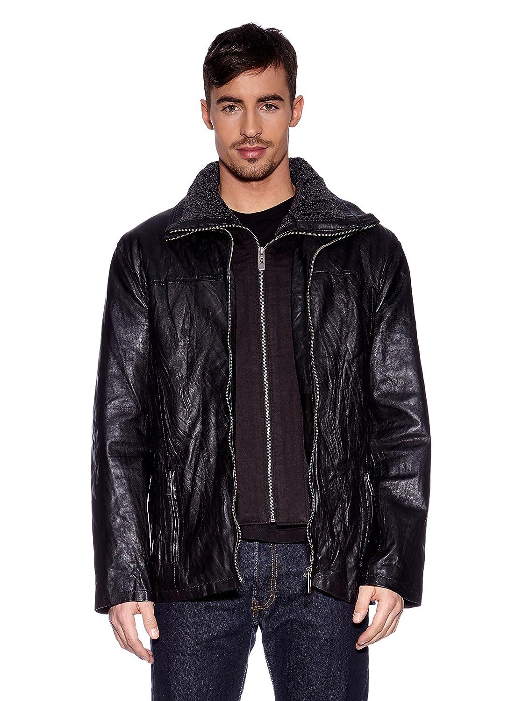 Tom Tailor Lederjacke, Herren BE89073 (black) kaufen