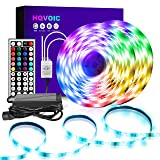 HQVOIC LED Strip Lights Waterproof 32.8ft RGB LED Light Strip 5050 LED Tape Lights Color Changing Kit with Remote for Home Lighting Kitchen Bed Flexible Strip Lights for Bar Home Decoration (Color: White, Tamaño: 32.8 FT)